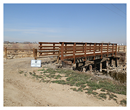Photo of the bridge over the Greeley Canal